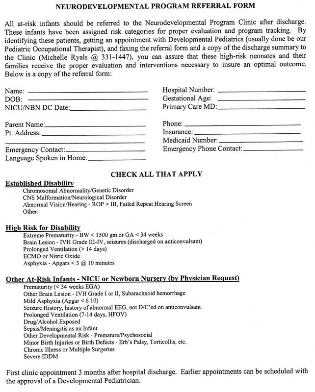 Protocols 2018 2019 Neonatal Intensive Care Unit Resident Handbook